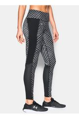 Leggin de Mujer UNDER ARMOUR FLY BY 2.0 PRINTED LEGGING Negro / Blanco