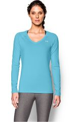 Polo de Mujer UNDER ARMOUR HEATGEAR ARMOUR LS Celeste