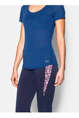 Polo de Mujer UNDER ARMOUR CHARGED NLS SS Azul