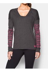 Polo de Mujer UNDER ARMOUR FAVORITE LS - SLEEVE LOGO Negro
