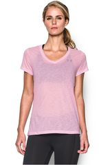 Polo de Mujer UNDER ARMOUR TECH SS - SLUB Rosado