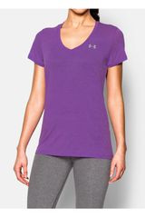 Polo de Mujer UNDER ARMOUR TECH SS - SLUB Morado