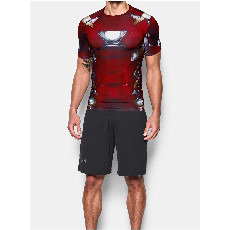 Camiseta de Hombre Under Armour Rojo iron man suit ss  5c04c2be916