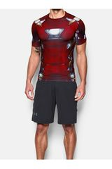 Camiseta de Hombre Under Armour Rojo IRON MAN SUIT SS