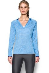 Polera de Mujer UNDER ARMOUR TECH LS HOODY - TWIST Celeste