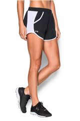 Under Armour Negro / Blanco de Mujer modelo FLY BY SOLID SHORT Deportivo Shorts