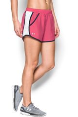 Short de Mujer UNDER ARMOUR FLY BY SHORT Rosado / Blanco
