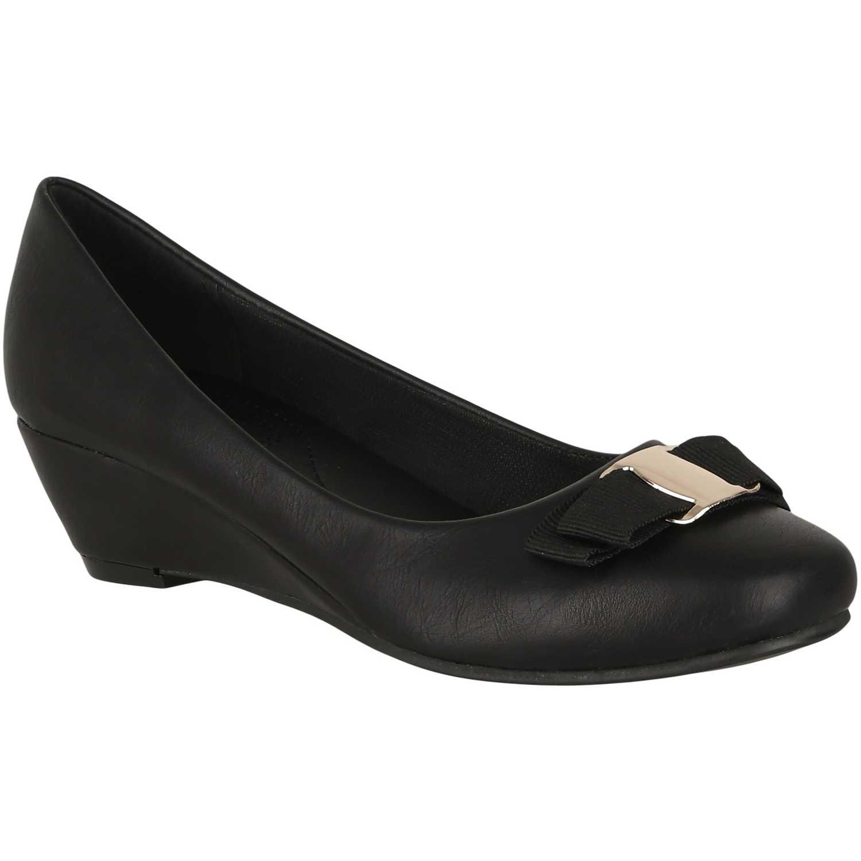 Calzado de Mujer  Platanitos cw 25 Negro, Material: Sintetico, Color: Negro, Taco: 4 cm, Forro: Textil, Planta: Sintético, Plantilla: Sintético.