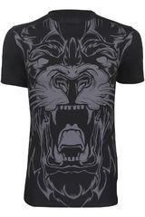 Camiseta de Hombre UNDER ARMOUR 100% BEAST COMP SS LION Negro /Gris