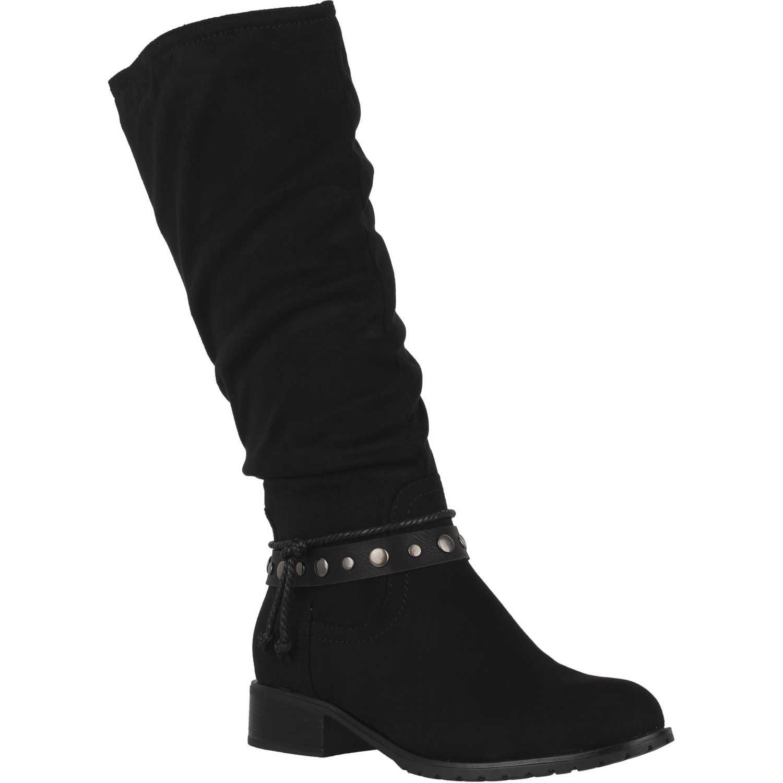 Bota Larga de Mujer Platanitos Negro bf-713
