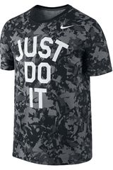 Polo de Hombre Nike DFCT CAMO JUST DO IT TEE Negro /Gris