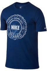 Polo de Hombre Nike Azulino DFCT EDD GO HARD TEE