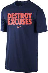 Nike Acero de Hombre modelo LEGEND DESTROY EXCUSES TEE Deportivo Polos Running Training Hombre Ropa