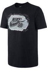 Nike Negro de Hombre modelo SB DF MARBLE ICON TEE Polos Deportivo