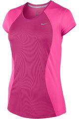 Nike Rosado de Mujer modelo RACER SS TOP Polos Deportivo