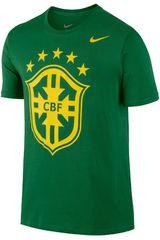 Nike Verde de Hombre modelo CBF CORE CREST TEE Polos Deportivo