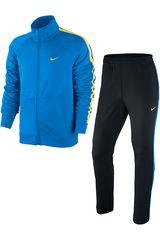 Buzo de Hombre Nike SEASON POLY KNIT TRK SUIT Celeste / Negro