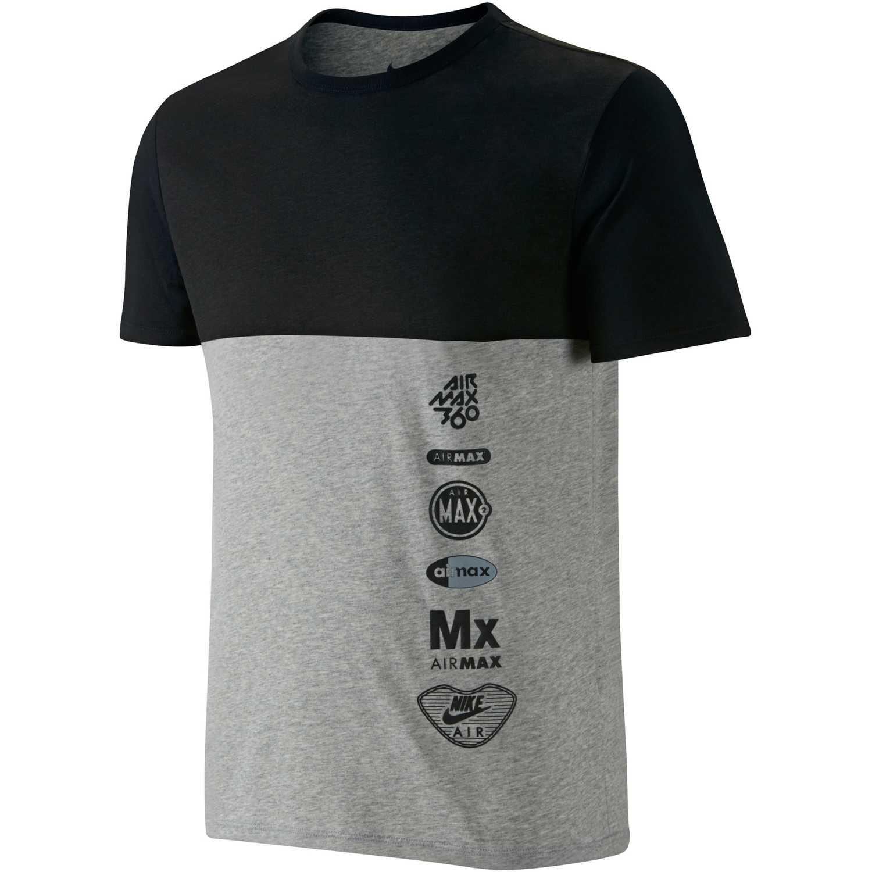 Polo de Hombre Nike gris   negro ru air max logos  7dc581959