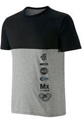 Nike Gris / Negro de Hombre modelo RU AIR MAX LOGOS Polos Deportivo