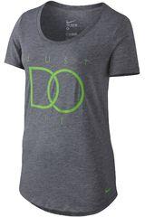 Nike Gris de Mujer modelo DF BLEND JDI BF TEE Polos Deportivo