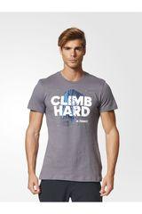 adidas Gris de Hombre modelo CLIMB HARD TEE Deportivo Polos