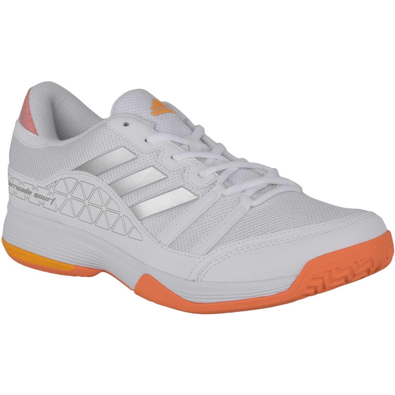 online store 33472 a1109 Zapatilla de Hombre adidas Blanco  Naranja barricade court