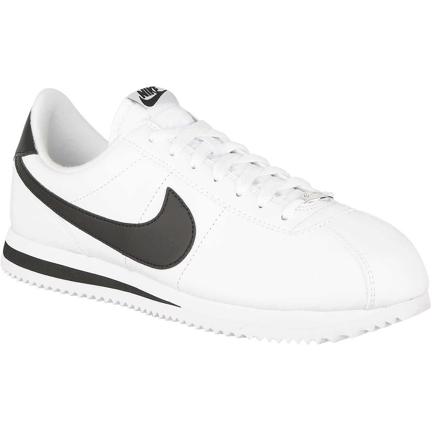 nike cortez hombres blanco and negro