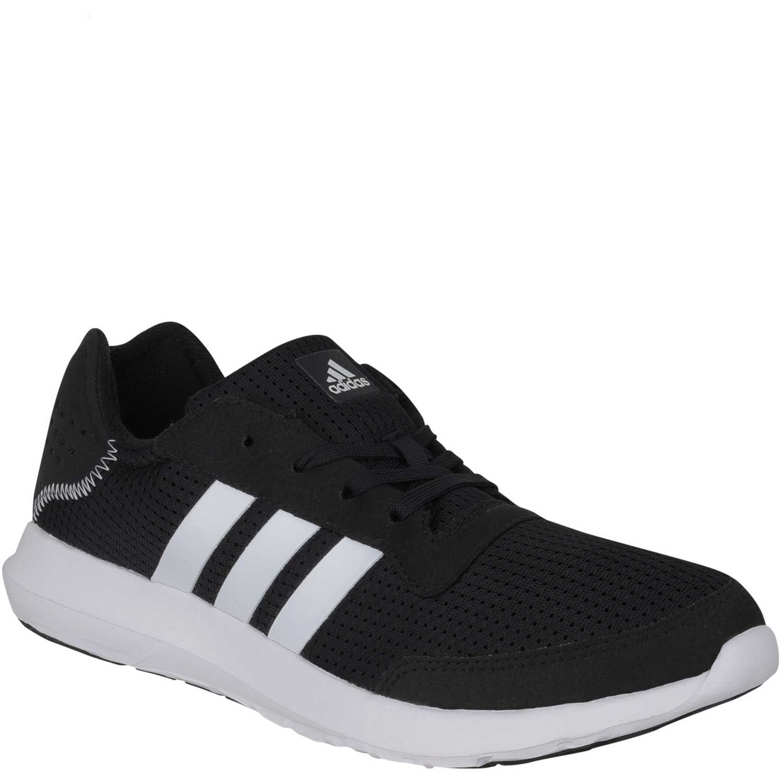 zapatillas adidas negras con blanco