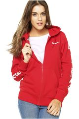 Nike Rojo de Mujer modelo CLUB FZ HOODY-GRAPHIC1 Casacas Deportivo
