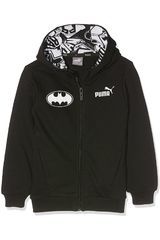 Polera de Jovencito Puma STYLE BATMAN HOODED SWEAT JACKET Negro