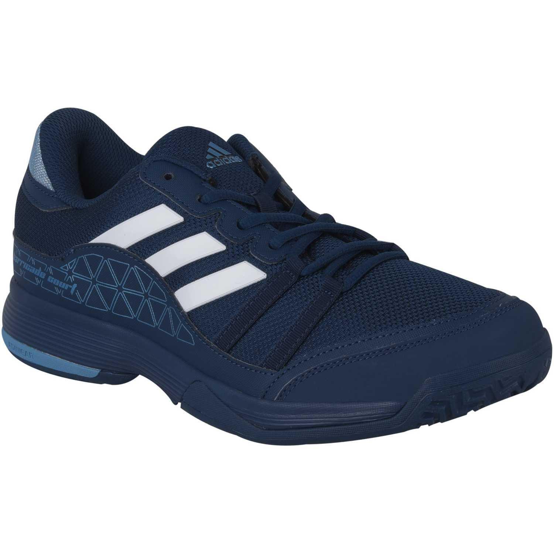 outlet store d5764 33106 Zapatilla de Hombre adidas Azul  Celeste barricade court