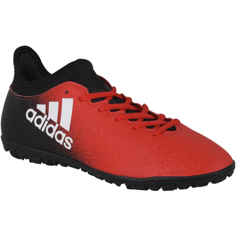 quality design c72b0 7df7e ... netherlands zapatilla de hombre adidas negro rojo x 16.3 tf 97c99 2f2ce