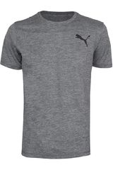 Polo de Hombre Puma ESSENTIAL PURETECH HEATHER T Gris