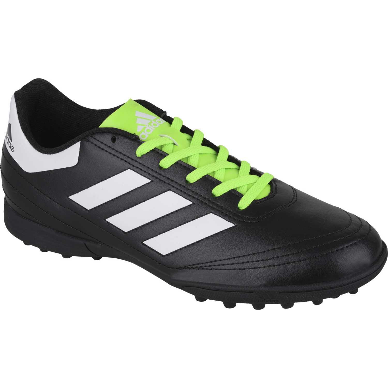 zapatillas adidas negro con verde
