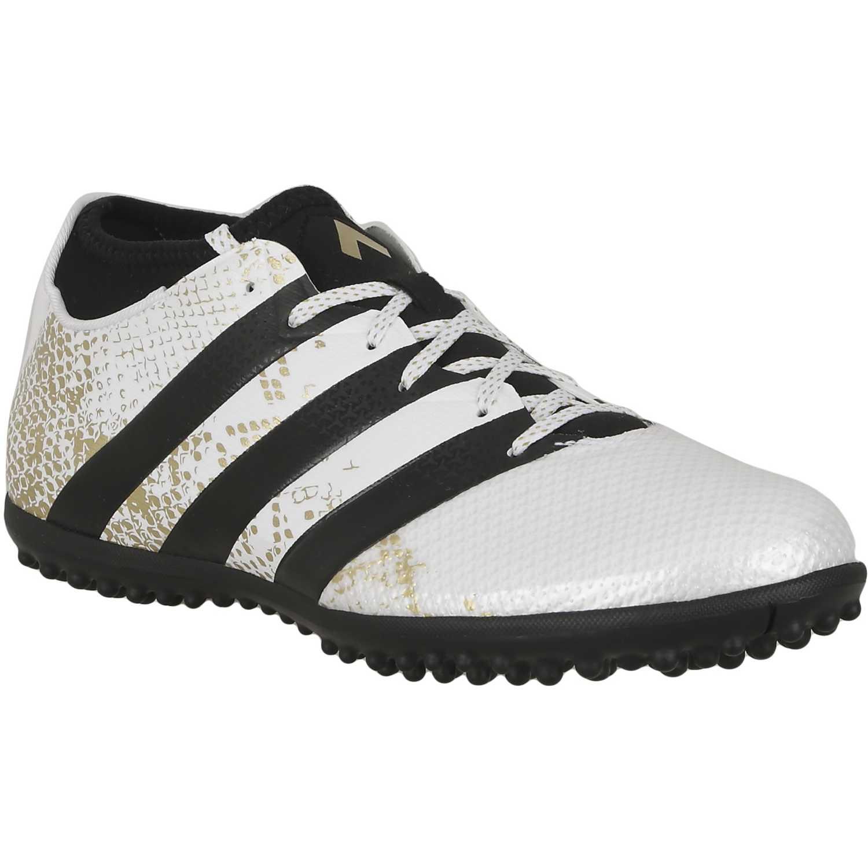 Zapatilla de Hombre  adidas ace 16.3 primemesh tf Blanco / Negro, Material: Sintetico, Color: Blanco / Negro, Taco: 1 cm, Forro: Textil, Planta: Sintético, Plantilla: Textil.