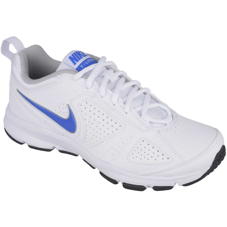 Zapatilla de Mujer  Nike wmns t-lite xi sl Blanco / Azul, Material: Sintetico, Color: Blanco / Azul, Taco: 1 cm, Forro: Textil, Planta: Sintético, Plantilla: Textil.