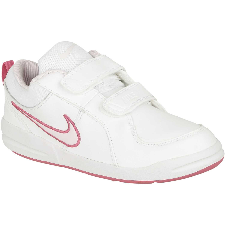 2580fa611ea Zapatilla de Niña Nike Blanco   rosado pico 4 gpv
