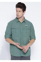 Camisa de Hombre COLUMBIA CASCADES EXPLORER LO CON PROTC UV30 Verde