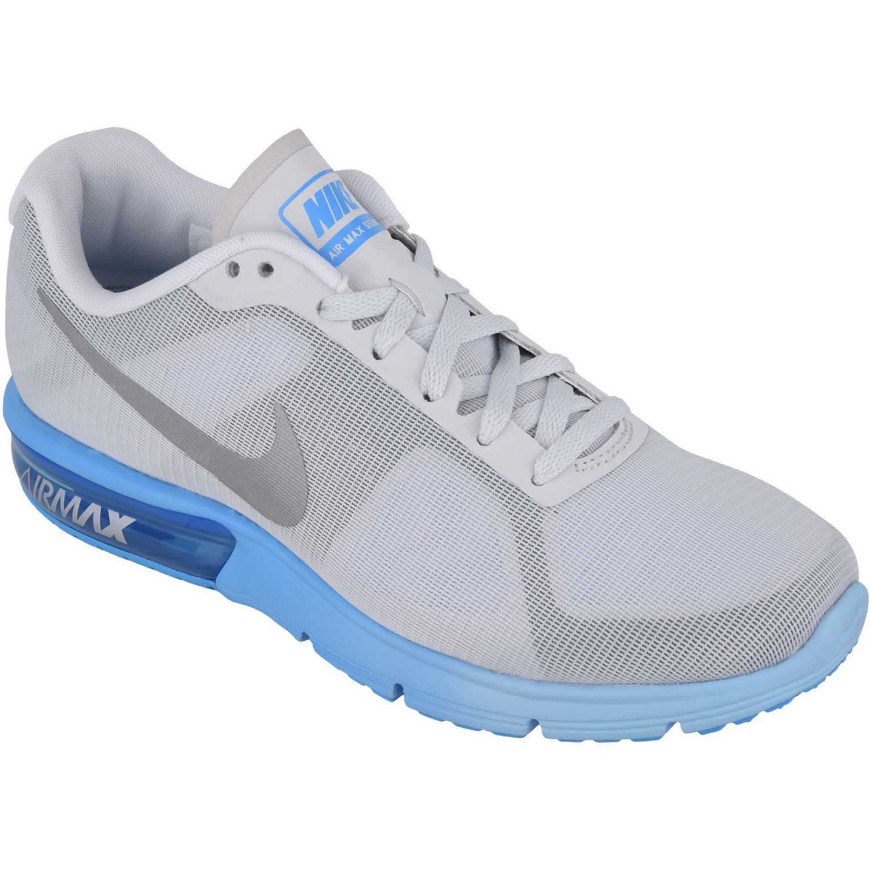 Zapatilla de Mujer  Nike wmns air max sequent Gris / Azul, Material: Textil-sintetico, Color: Gris / Azul, Taco: 1 cm, Forro: Textil, Planta: Sintético, Plantilla: Textil.