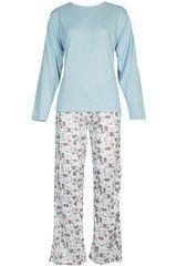 Pijama de Mujer Kayser 60.1124 Celeste