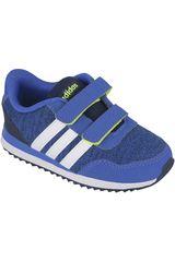 adidas NEO Azulino / Blanco de Niño modelo V JOG CMF INF Deportivo Niños Walking Zapatillas Hombre Calzado