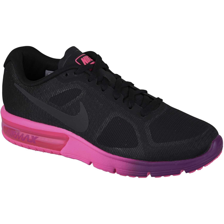 deea10d40bd Zapatilla de Mujer Nike Negro   Rosado wmns air max sequent ...