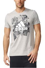 Polo de Hombre adidas BADGE OF SPORTS Gris