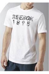 Polo de Hombre Reebok TAPE TEE Blanco