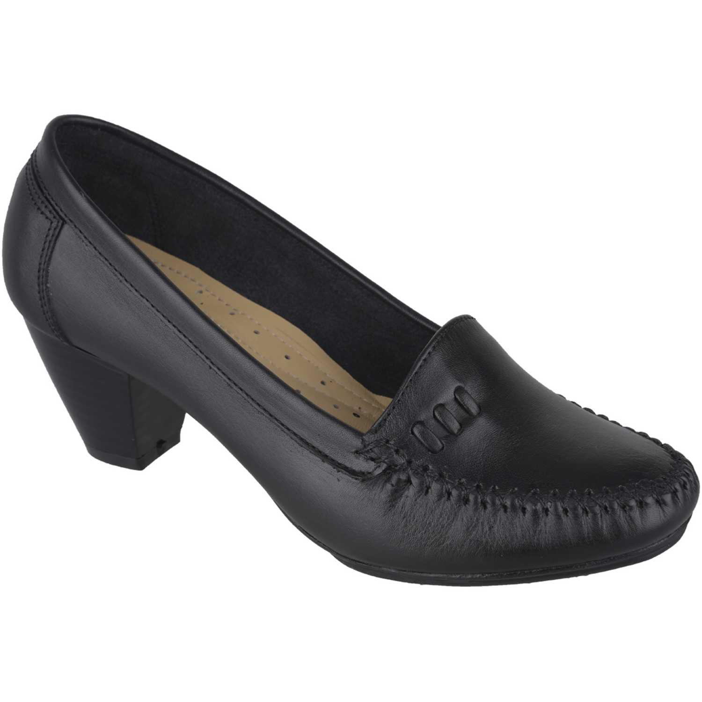Calzado de Mujer  Limoni - Cuero c 411705 Negro, Material: Cuero, Color: Negro, Taco: 6 cm, Forro: Cuero, Planta: Sintético, Plantilla: Cuero.