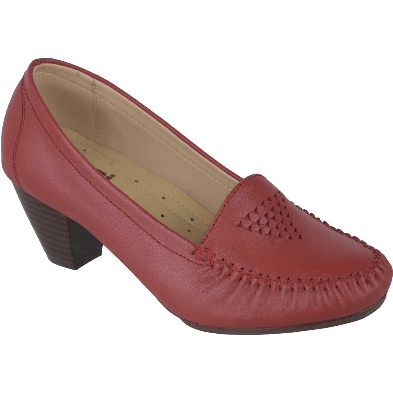 Calzado de Mujer  Limoni - Cuero c 411704 Rojo, Material: Cuero, Color: Rojo, Taco: 6 cm, Forro: Cuero, Planta: Sintético, Plantilla: Cuero.