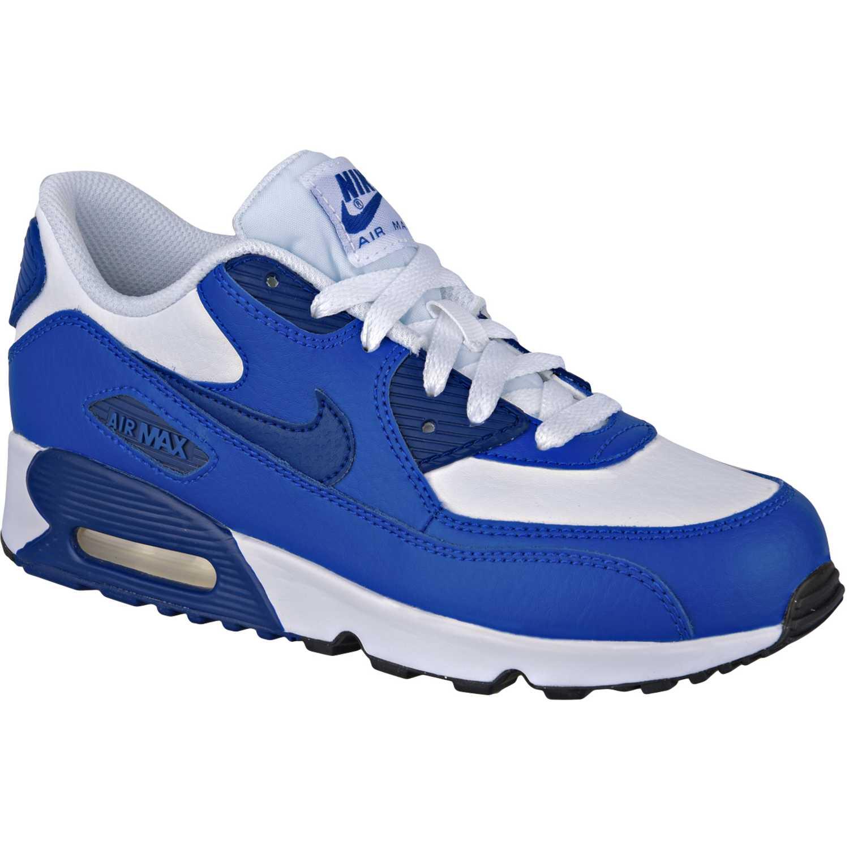 e87ee9db3 Zapatilla de Niño Nike Azul   Blanco air max 90 ltr bp
