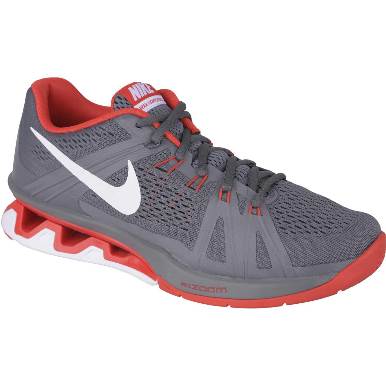 brand new 93e09 fde73 Nike Gris  rojo de Hombre modelo REAX LIGHTSPEED Deportivo Zapatillas  Training