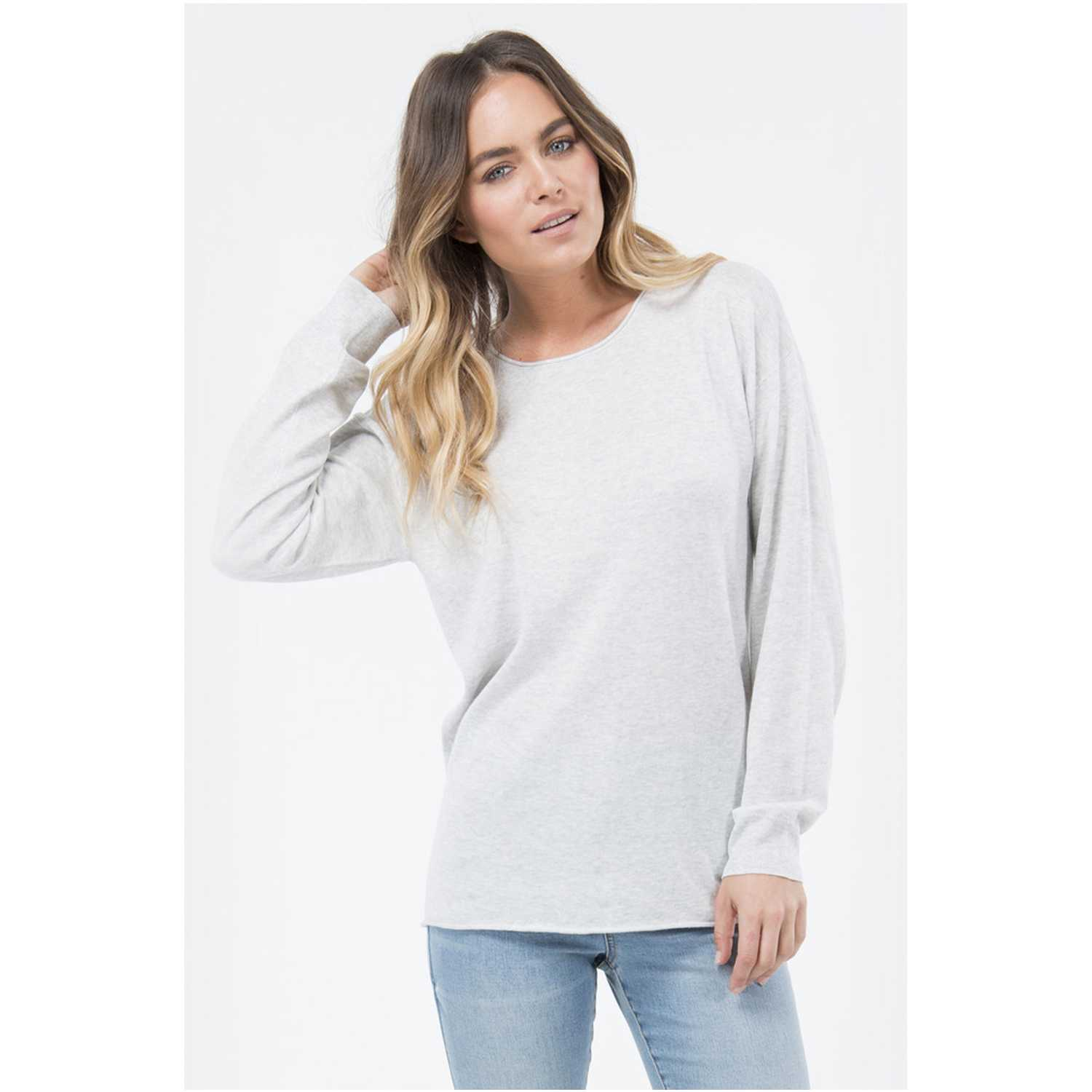 Chompa de Mujer Billabong Gris all time knit crew
