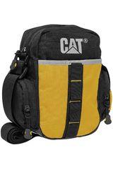 Morral de Hombre CAT STONE Negro / Amarillo